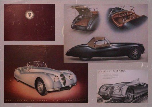 jaguar xk 100 xk 120 brochure 1949 8 pages