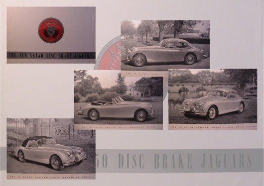 big format jaguar xk 150 brochure 1957 8 pages