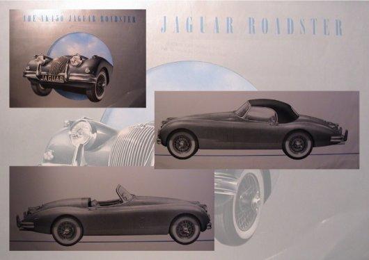 big format jaguar xk 150 brochure 1958 4 pages