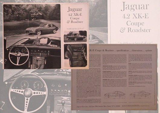 jaguar e type series i brochure 1966 4 pages usa color